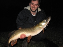 King Lewie's first ever pike - I think he's hooked ah thank you