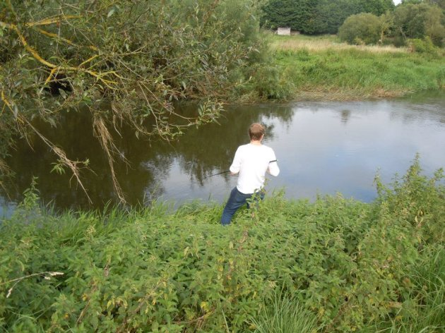 Fishing a lovely tight swim